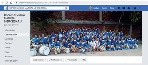 Grupo de Facebook de la Banda Músico Marcial Mercedaria
