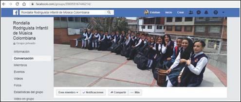 Grupo de Facebook de la Rondalla Rodriguista