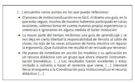 """Extracto de la participación en el foro """"Reflexiones finales': profesor JC (mexicano)"""
