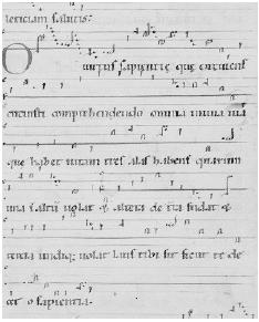 O Virtus Sapientie Source: Von Bingen Hildegard: Dendermonde (ca. 1174- -75) F168 Riesenkodex Hs. 2 (1180-90) F 466