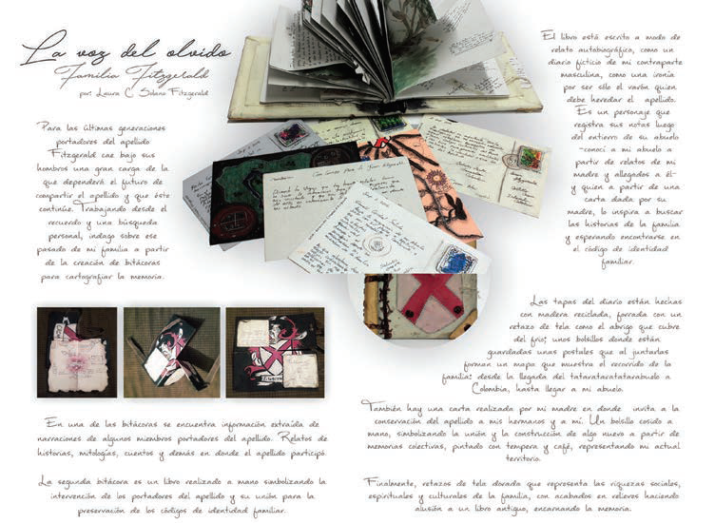 Cartografía de la memoria familiar. Elaboración de Laura Solano.