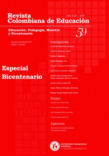 Ver Núm. 59 (2010): Educación, Pedagogía, Maestro y Bicentenario (jul-dic)