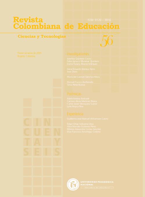 Ver Núm. 56 (2009): Ciencias y Tecnologías (ene-jun)