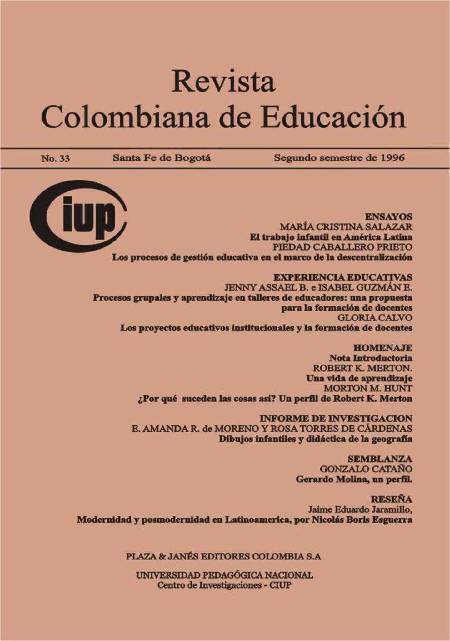 El trabajo infantil en América Latina | Revista Colombiana de Educación