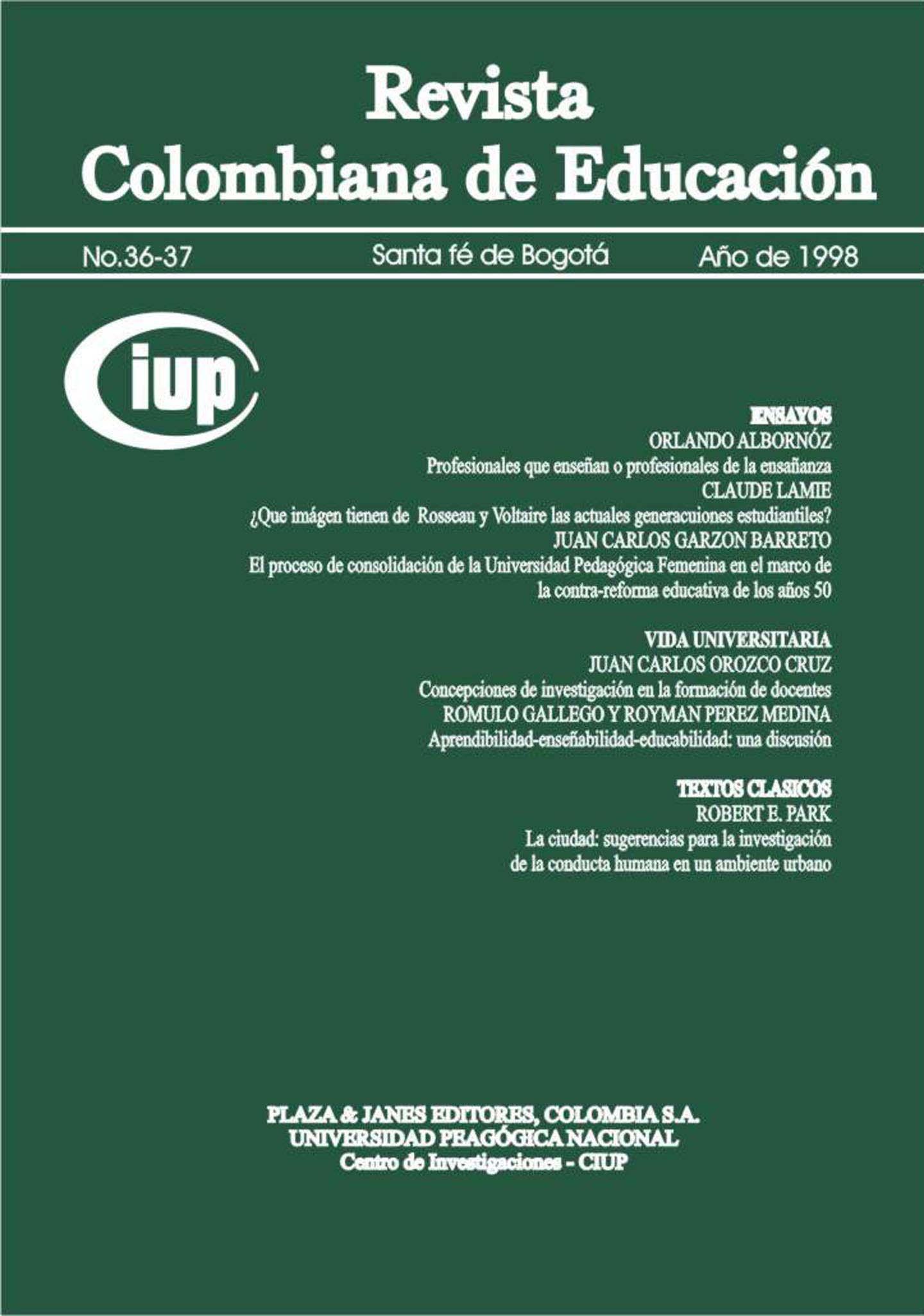 Ver Núm. 36-37 (1998): 1998