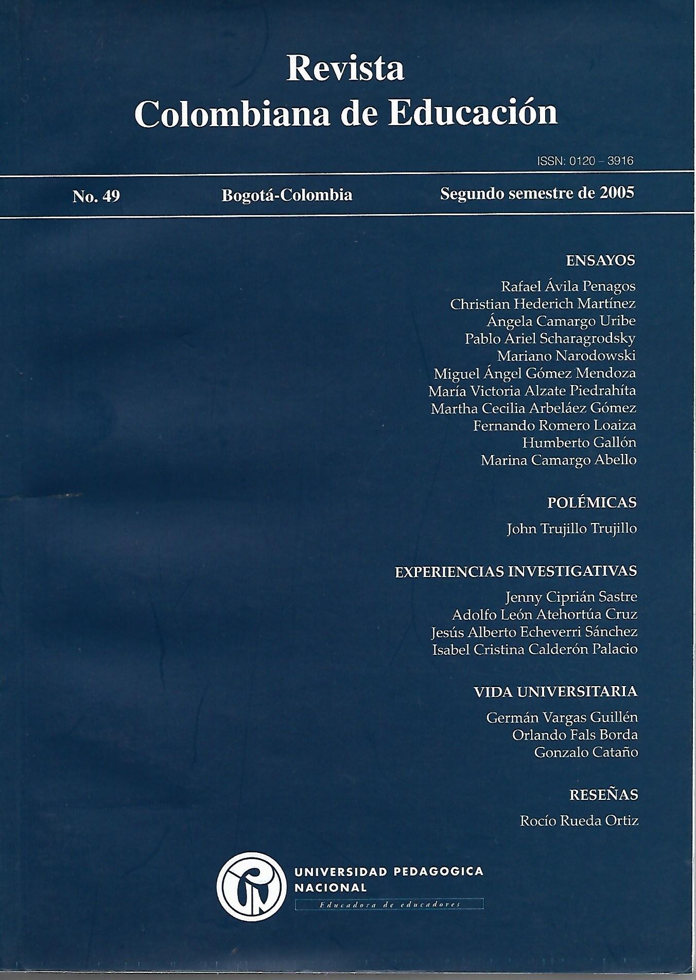 Ver Núm. 49 (2005): 2005