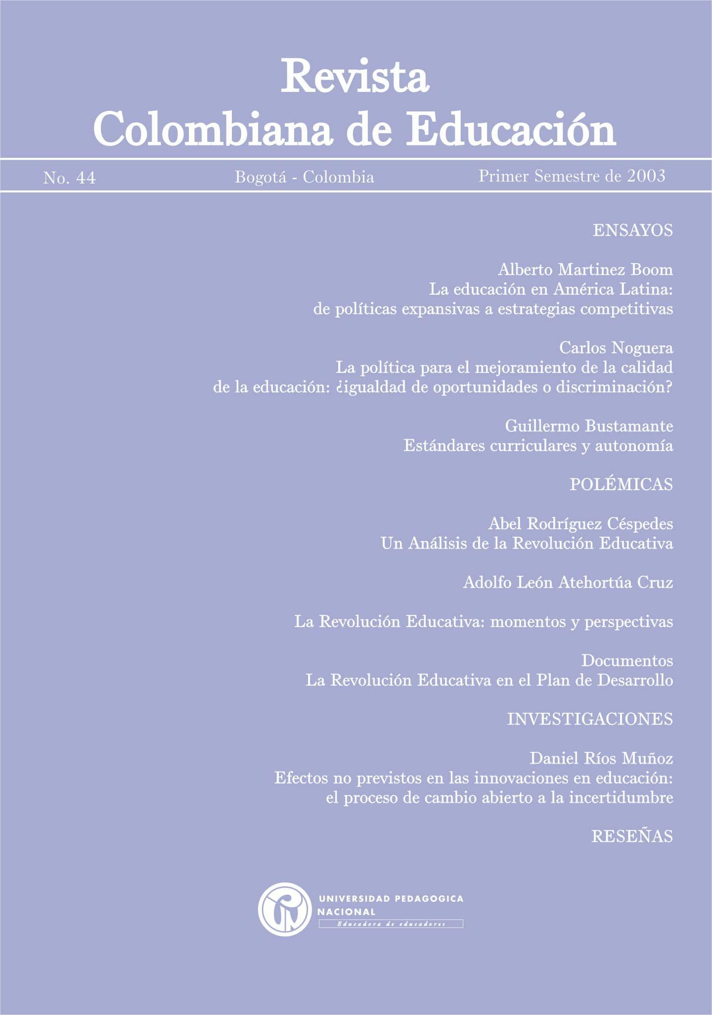 Ver Núm. 44 (2003): 2003
