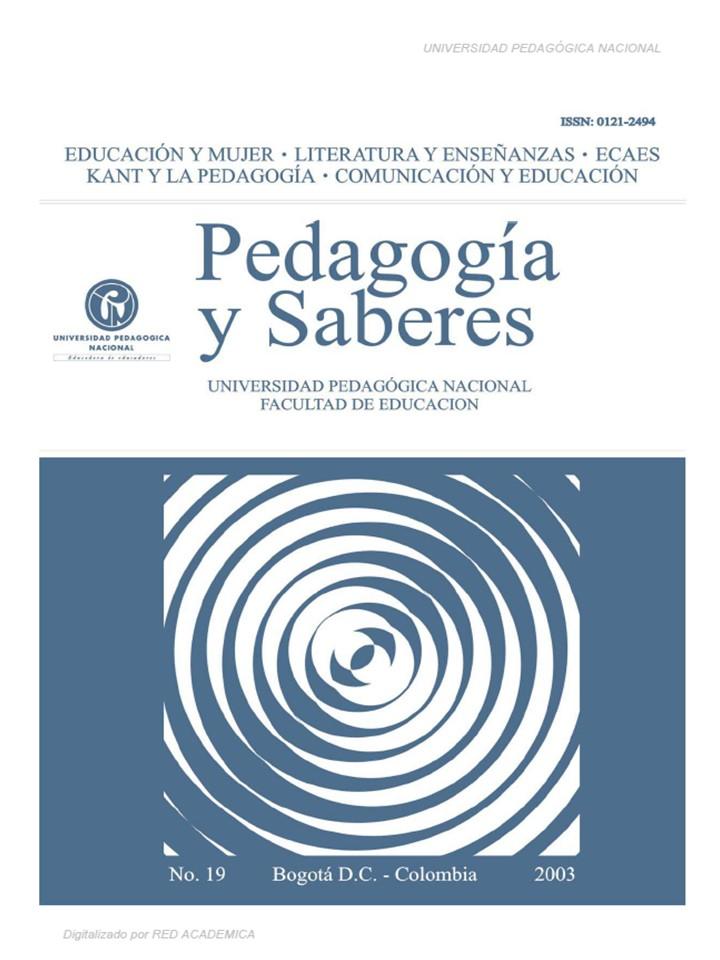 Educación y mujer. Literatura y enseñanzas. ECAES. Kant y la pedagogía. Comunicación y Educación