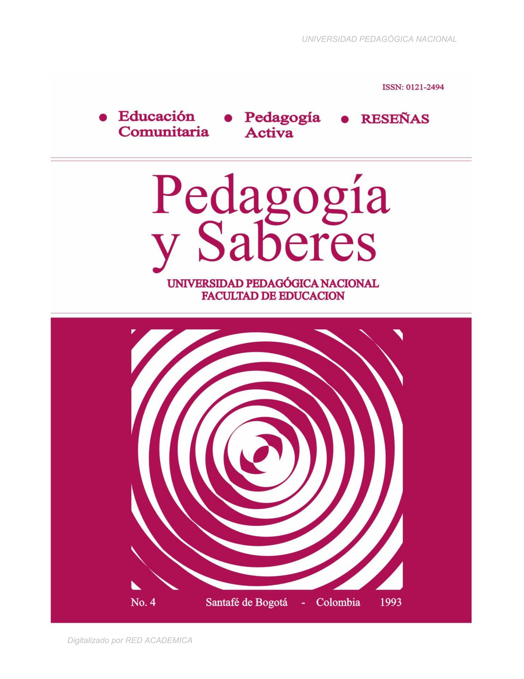 Educación comunitaria. Pedagogía Activa. Reseñas